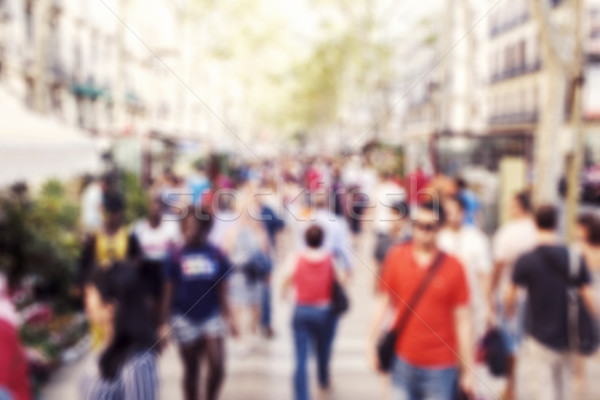 defocused blur background of people walking Stock photo © nito