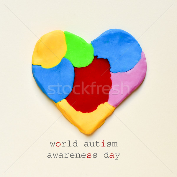 heart and text world autism awareness day Stock photo © nito