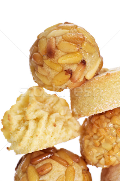panellets, typical confection eaten in All Saints Day in Catalon Stock photo © nito