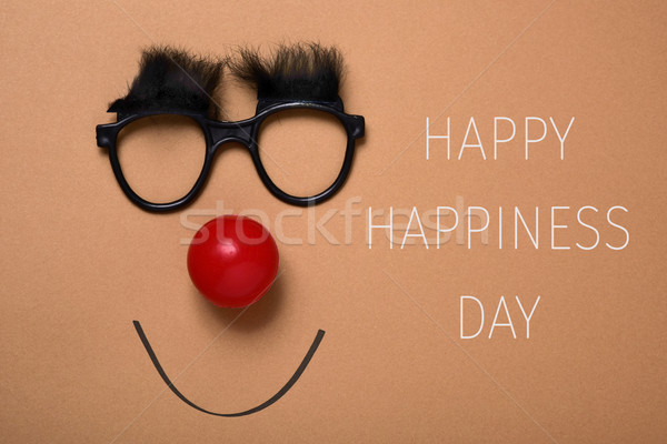 funny face and text happy happiness day Stock photo © nito