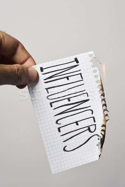 text influencers in a piece of paper Stock photo © nito