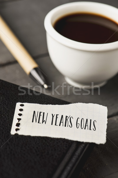 text new years goals in a piece of paper Stock photo © nito