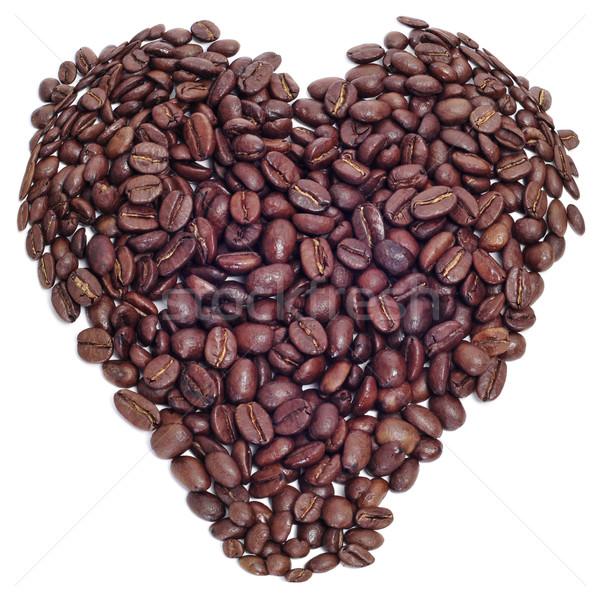 Amor café granos de café corazón Foto stock © nito