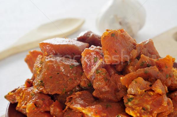 Espanhol carne marinado carne de porco cozinhar Foto stock © nito