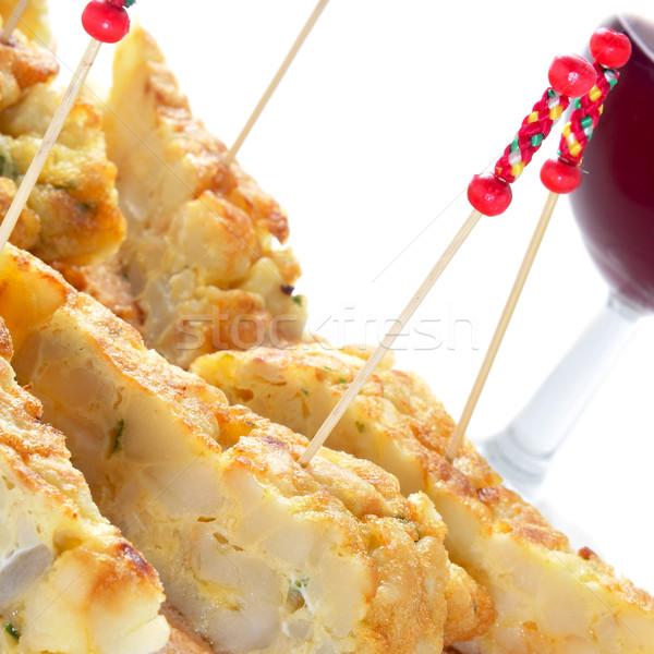Spaans tortilla geserveerd brood plaat Stockfoto © nito