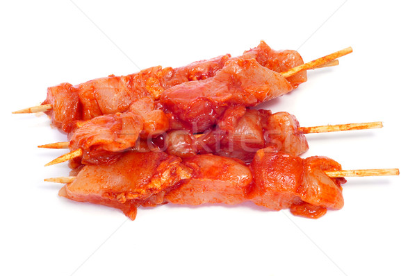 spiced chicken meat skewers Stock photo © nito
