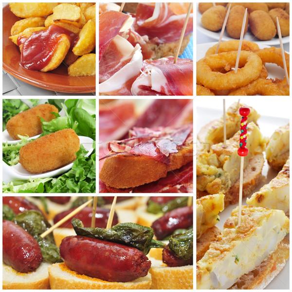 испанский Тапас коллаж различный продовольствие Бар Сток-фото © nito