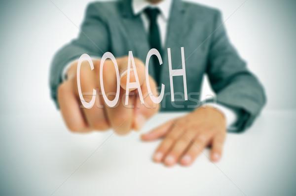 監督 ビジネスマン 座って デスク ポインティング 言葉 ストックフォト © nito
