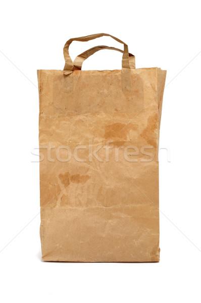 worn paper shopping bag Stock photo © nito