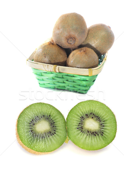 киви плодов корзины один Cut фрукты Сток-фото © nito