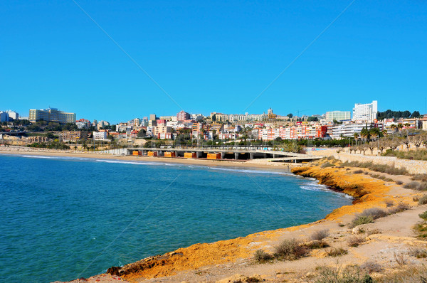 Miracle Beach and panoramic view of Tarragona, Spain Stock photo © nito