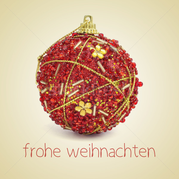 frohe weihnachten, merry christmas in german Stock photo © nito