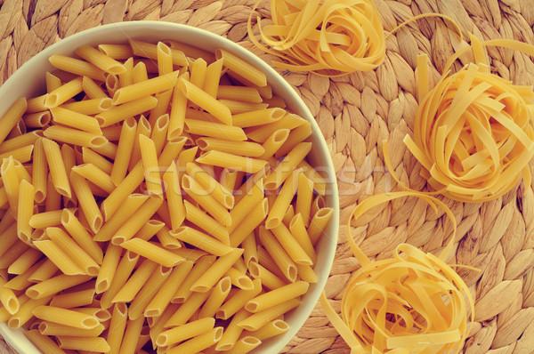 uncooked pasta Stock photo © nito