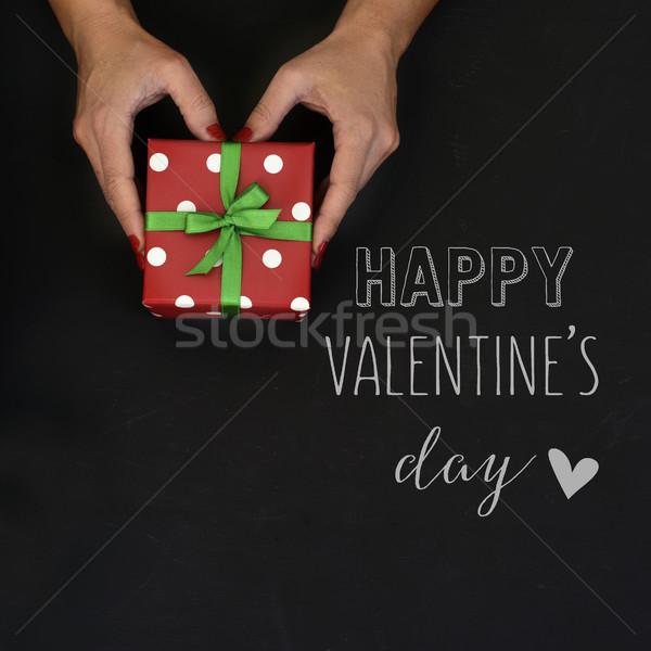 ギフト 文字 幸せ バレンタインデー ショット 小さな ストックフォト © nito