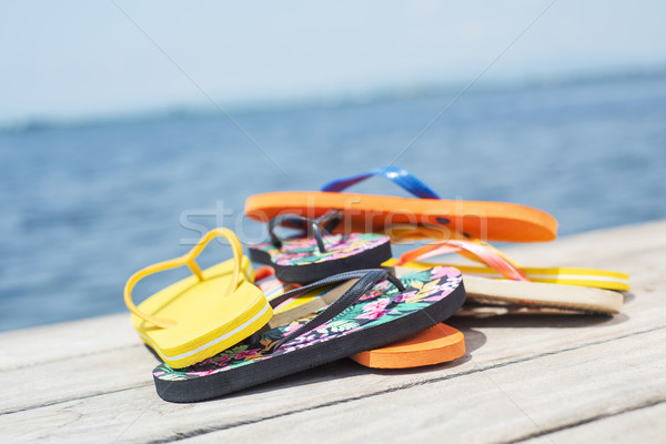 flip-flops on a pier Stock photo © nito