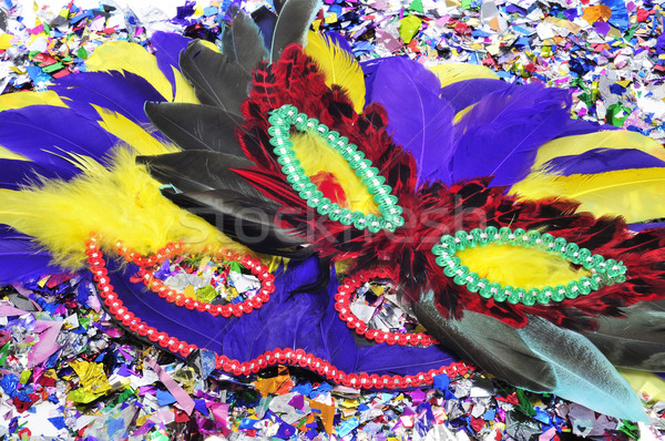 carnival masks and confetti Stock photo © nito