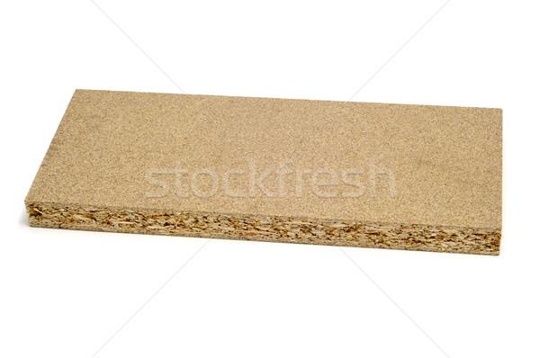 Foto stock: Partícula · bordo · pieza · blanco · madera · fondo