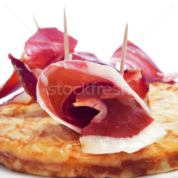 Spaans tortilla serrano ham typisch Stockfoto © nito