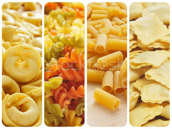 uncooked pasta collage Stock photo © nito