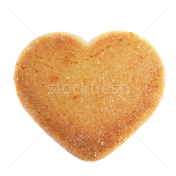 heart-shaped shortbread biscuit Stock photo © nito