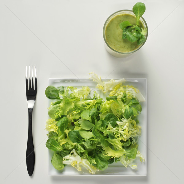 サラダ グリーンスムージー ショット プレート 緑 白 ストックフォト © nito