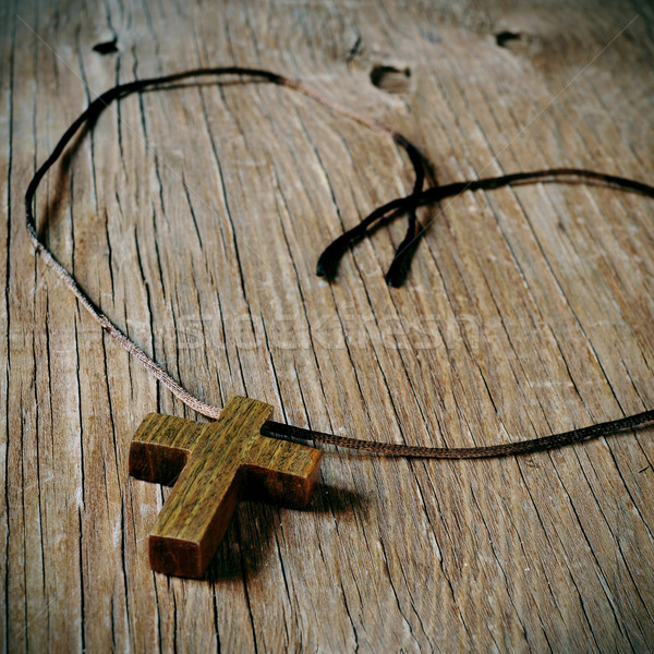 wooden Christian cross Stock photo © nito