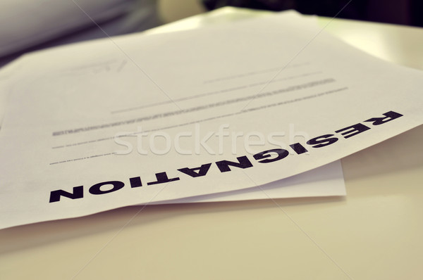 resignation letter Stock photo © nito
