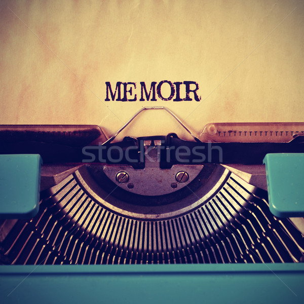 retro typewriter and word memoir written with it Stock photo © nito