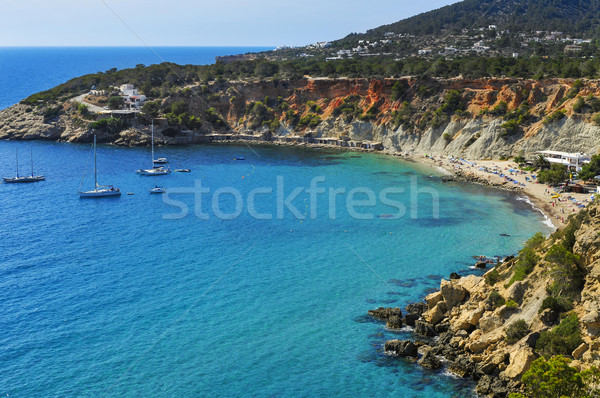 Cala de Hort cove in Ibiza Island, Spain Stock photo © nito
