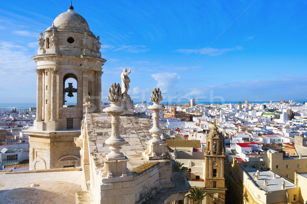 aerial view of Cadiz, Spain Stock photo © nito