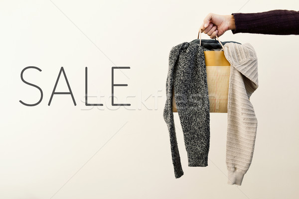 shopping bag with clothes and word sale Stock photo © nito