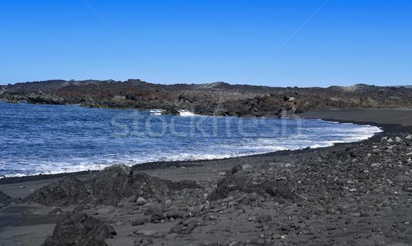 Montana praia canárias Espanha ver vulcânico Foto stock © nito