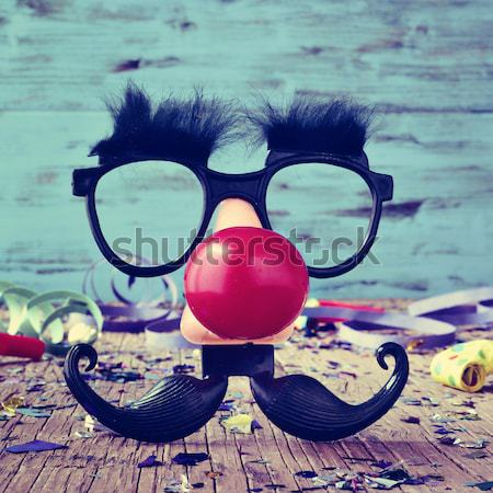 fake glasses, nose and mustache Stock photo © nito