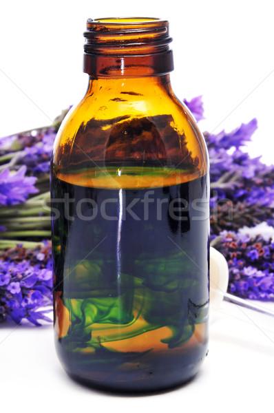 Lavanda essenza fiori bottiglia Foto d'archivio © nito