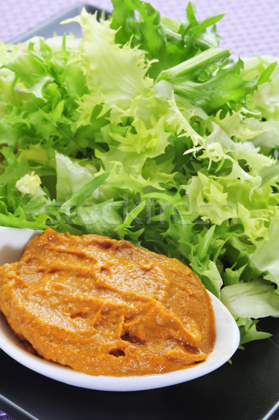 escarole endive with romesco sauce, a typical salad from Catalon Stock photo © nito