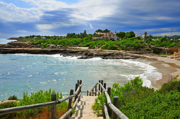 Cala Vidre in Ametlla de Mar, Spain Stock photo © nito