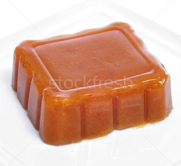 Spanyol birsalma zselé tányér darab tipikus Stock fotó © nito