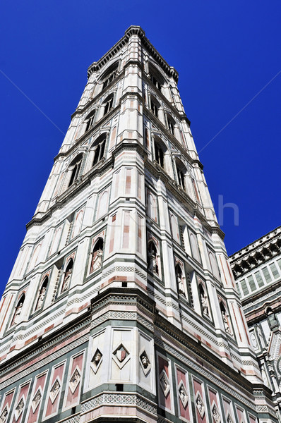 Giottos Campanile and Basilica di Santa Maria del Fiore in Flore Stock photo © nito