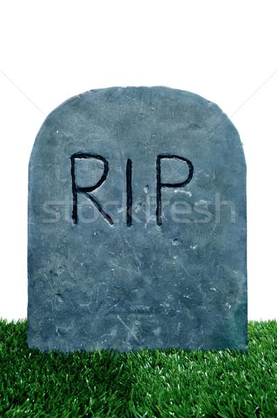 Halloween grave cemitério grama branco Foto stock © nito