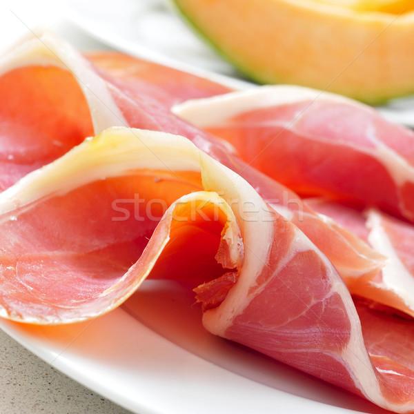Espagnol serrano melon plaque tranches Photo stock © nito
