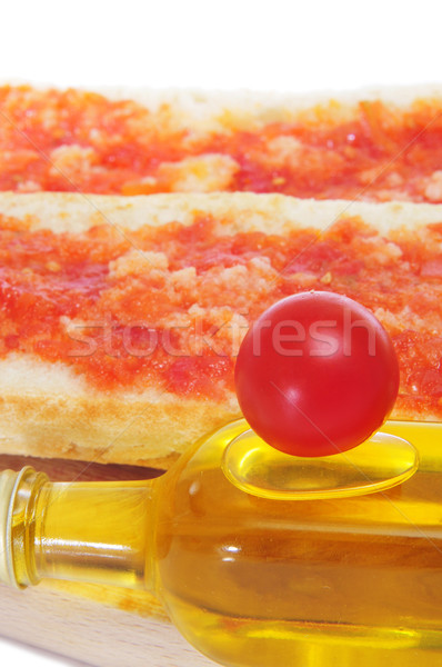 pa amb tomaquet, bread with tomato, typical of Catalonia, Spain Stock photo © nito