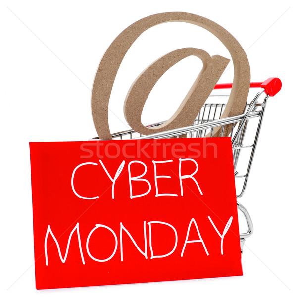Felirat bevásárlókocsi szöveg írott fehér piros Stock fotó © nito