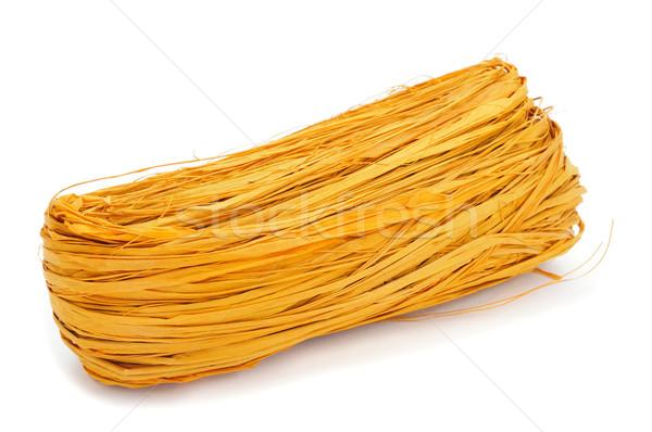 Stock photo: yellow natural raffia