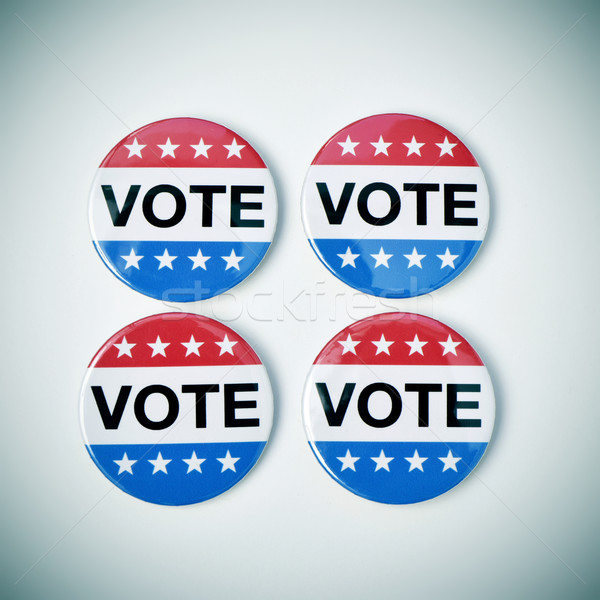 Vote badges États-Unis élection coup quatre Photo stock © nito
