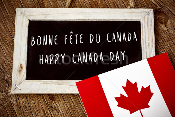 text Happy Canada Day in French and English Stock photo © nito