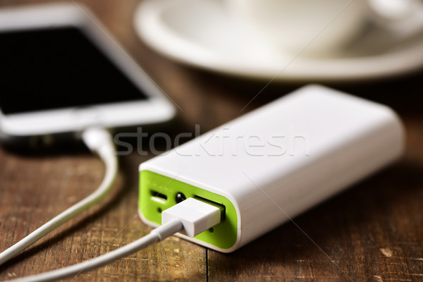 powerbank charging a smartphone Stock photo © nito