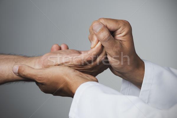 Сток-фото: человека · движущихся · стороны · старший · пациент