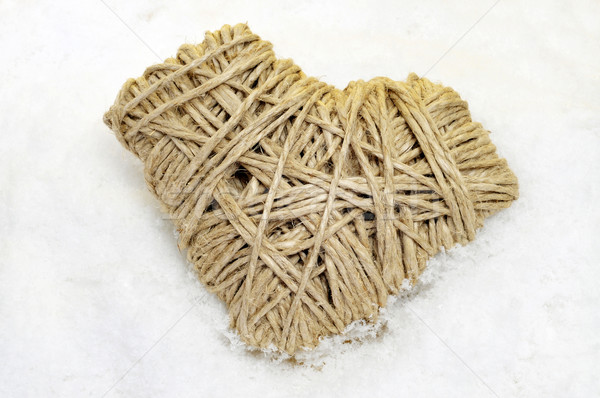 rope heart on the snow Stock photo © nito