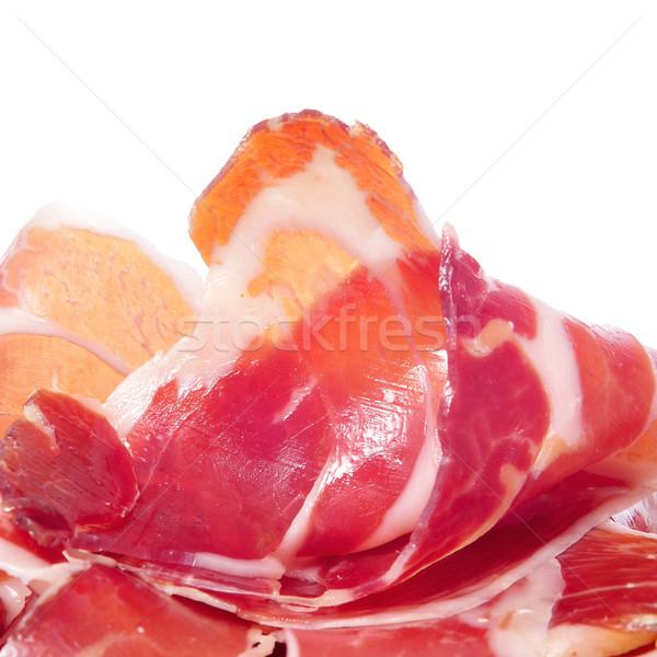 Serrano jambon espagnol blanche Photo stock © nito