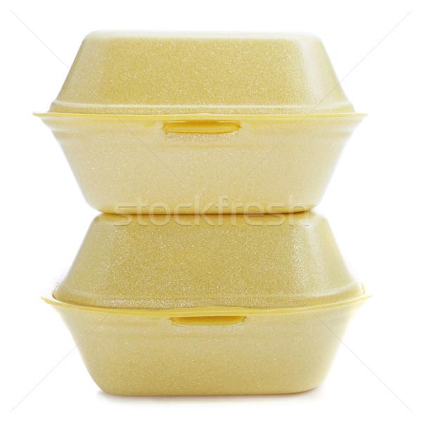 泡 食品 黄色 背景 ボックス サービス ストックフォト © nito